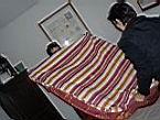Uto et Sabyne font mon lit :-)
